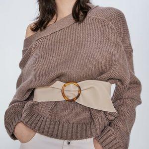 Zara Wide Leather Belt